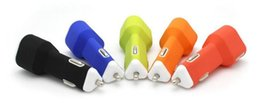 Wholesale Newest Top V A Dual USB Soft Silicon Triangle Type Car Charger For Mobile Phone Cellphone Ipad Pass CE FCC ROHS