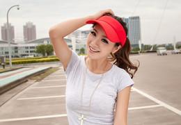 Wholesale-Unisex Adjustable Sun Visor Party Hat Casual Hiking Travel Golf Tennis Baseball Outdoor Sports Visor Sun Caps For Women Men