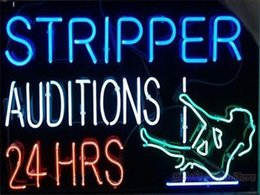 Wholesale New Stripper Auditions Handicrafted Real Glass Tube Neon Light Beer Lager Bar Pub Sign Multiple Size