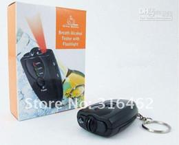Alcool trousseau en Ligne-Livraison gratuite Digital Breathalyzer alcool testeur avec LED Flashligh Keychain