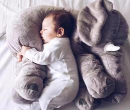 Wholesale retail elephant pillow baby doll children sleep pillow birthday gift INS Lumbar Pillow Long Nose Elephant Doll Soft Plush cm