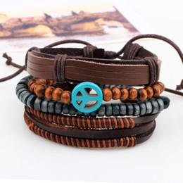 Wholesale 30pcs new Designs Leather Bracelet Antique Cross Anchor Love Peach Heart Owl Bird Believe Pearl Knitting Bronze Charm Bracelets