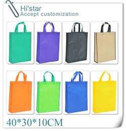 Promotion porter coloré Gros-40 * 30 * 10CM 20pcs Haute Qualité 13 Colorful Tissus non-tissé Gird Motif Eco-friendly Mode sac à main Carry Bag Shopping Bag