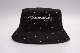 2016 New Fashion Diamond Bucket Hats bobs gorras bones High Quality Hiphop Floral Brand fishing Caps For Men Women cayler sons bucket cap