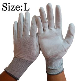 Wear-Resisting Non Disposable Nylon Dipped PU Safety Glove L Size PU Portective Workplace Glove Anti-static Glove