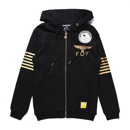 Wholesale 2016 New fashion for women and men hoody Gilded eagle boy london sweatshirt plus size Removable cap with Zipper brand hoodies