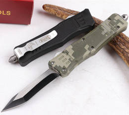 MICROTECH troodon 616 tricolor double action folding knife troodon knives tactical camping hunting folding knives 1pcs