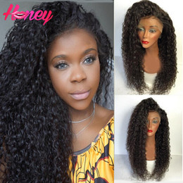 Malaysian Virgin Hair Lace Wigs Glueless Full Lace Wigs Kinky Curly lace Front Wig With Baby Hair For Black Woman