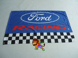 ford racing flag for car show, ford banner,3X5 ft size,100% polyster flag Custom Brass Grommets