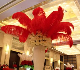 100pcs   lot 12-14 inch Ostrich Feather Plume ostrich feather natural feather wedding arrangement HJIA217