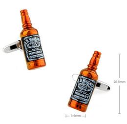 Wholesale New Arrival Men Cufflinks Novel D Famous Wine Whiskey Bottle Design Best Gift For Men Cuff Links retail