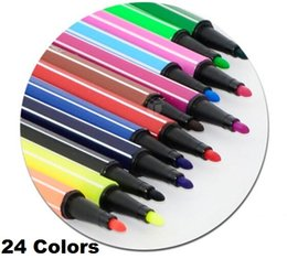 48pcs lot Non-toxic Water color pen brush Marker for kids school stationery  Art Marker Highlighter for art supplies Wholesale