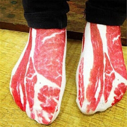 Wholesale 2016 Fashion D meat Printed Men s Brand Socks High Quality Heat Holder Mens Basketball Socks Men Socks Bottom Color Happy Socks zf