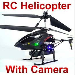 Wholesale Best Birthday Gift WL S977 CH Radio iphone remote Control Metal Gyro rc Helicopter With Camera quadcopter M087