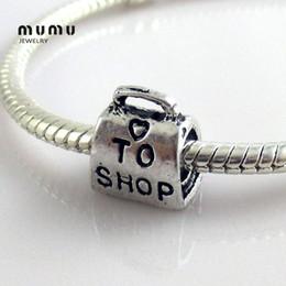 Promotion boutiques de charme Sac à main en gros Charms Perles Argent Plaqué Panier Charm Pendentif Fit européenne Diy Serpent Charms Bracelets Livraison gratuite