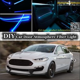 Wholesale DIY Tuning Atmosphere Fiber Optic Band Lights interior Ambient Light For Ford For Mondeo Contour Door Panel illumination Refit