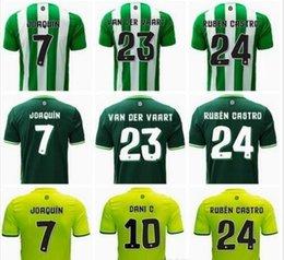 Wholesale 2016 Real Betis Soccer Jersey camiseta de futbol JOAQUIN home Away Football Shirts Ruben Castro VAN DER VAART Maillot de foot jerseys