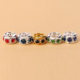 Spacer Avec Pandora Cristal Charmes Européens Accessoires Bijoux Perles Grosse Vis De Perle Initial Fit DIY Serpent Bracelet Chaîne à partir de bracelets de charme initiales fournisseurs