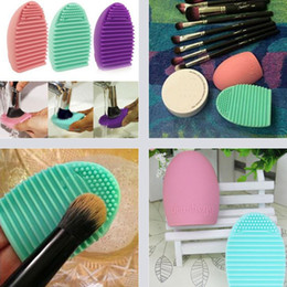 Newest Make Up Cosmetic brushegg Brushes Cleaner Cleaning Glove Silicone Remover Washing Board Egg Scrubber 8colors gift