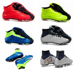 Wholesale 2016 Superfly FG Kids Soccer Shoes Boots CR7 Cleats Laser Youth Women Boy s Football Sneakers Eur Size