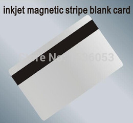 500PCS Lot Hi-Co Inkjet Magnetic Stripe Blank Card Printable By Epson  Canon Printer with Card Tray