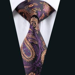 Men Ties Silk Tie Mens Neck Ties Wedding Party Paisely Jacquard Woven Mens Tie 8.5cm Width Formal Work Meeting Wedding D-0571