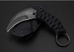 Wholesale Newer recommended D2 steel talons advance stone wash camping hunting knife folding knife