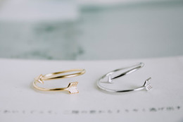 10 PC 2016 fashionable new products listed gold silver and rose gold zinc alloy small arrow JZ008 simple ring packing ring for women