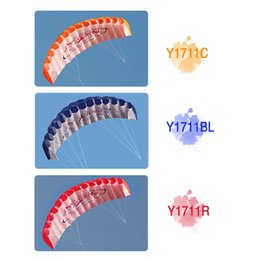 Wholesale Outdoor Sports Dual Line Stunt Parafoil Kite m Power Soft Kite with Handle m Line Y1711