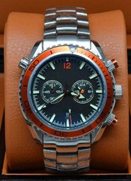 Luxury Brand Dive Quartz Chronograph Limited Orange Mens Watch Professional Planet Ocean Co-Axial Men Wristwatch Original Clasp Man Watches