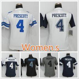 Wholesale 2016 New product Cowboys Dak Prescott football jerseys Replica sewing Women Name and Logos
