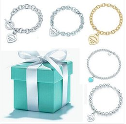 Wholesale 2016 Hot sterling silver jewely tiffany jewelry Bracelet for women Necklace classic style tiffan jewely Organ with original box