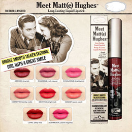 Wholesale Top Quality Balm Cosmetics Meet Matt Hughes e Long lasting Lipstick HONEST DEVOTED LOYAL SENTIMENTAL CHIVALROUS Lip Gloss Color