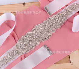 Wholesale 2016 Noble fashion crystal wedding dress belt pure manual nail drill the bride wedding dress belt
