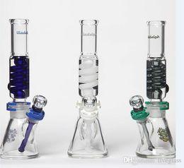 2017 tubes narguilé Le plus récent Bong de bobine Fumeurs Narguilés bangs de verre d'illadelph tubes en verre d'eau plate-forme d'huile 14 millimètres joints tubes narguilé offres