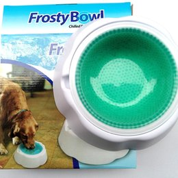 Wholesale FROSTY BOWL Pet Dog Food Ice Frosty Bowl Cold Ice Bowls Keeps Water Fresh and Cold Summer Pets Supplies Products AA