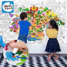 Wholesale Coloring Books For Kids Toys World MAP Jurassic Park Painting Drawing Book Kinds Of Cartoon dinosaur Educational Toys Gift items One Piece