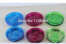 Wholesale Colorful Yeti Cup Lids PP oz Yeti Mugs Cover Anti overflow Sealing Splashproof Vehicle Tumblers Lids