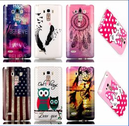 Wholesale For LG G4 Stylus LS770 OWL Dreamcatcher gongfu stripped Lion Feather Soft TPU IMD Silicone Case Sea Bowknot Balloon UK USA Flag Cartoon