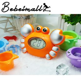 Fashion Cute Cartoon Crab Baby Infant Bath Tub Thermometer Water Temperature Tester with Bath Toys Set