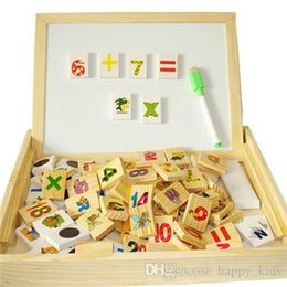 Wholesale Doll Toys Children Toys Kids Multifunctional Learning Box DX26 Hot Baby Arithmetic Domino and Double sided Magnetic Drawing Educationa