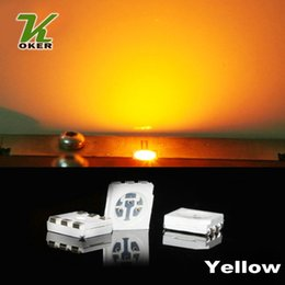 1500PCS 15-18LM Yellow PLCC-6 5050 SMD 3-CHIPS LED Lamp Diodes Ultra Bright SMD 5050 SMD LED Free shipping