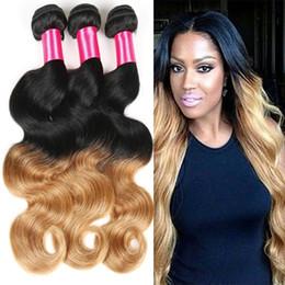 7A Brazilian Virgin Hair 4bundles Ombre Hair Extensions Ombre Brazilian Hair Weave Bundles Human Hair Extension Soft No Tangle