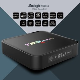 Wholesale Amlogic S905x T95M pro Android Smart TV Box GB GB XBMC Sports Movies Games Media Box Player Kodi Free Apps Pre installed