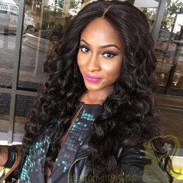 Loose Wave Brazilian Human Hair Full Lace Wig  Lace Front Wigs with Baby Hair for Black Women