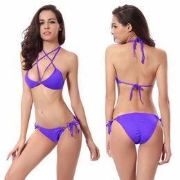 Wholesale Women s swimsuit Sexy Bikini swimwear fashion plus size spring and summer outdoor beach beauty sexy Split triangle swimsuit