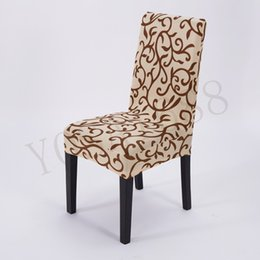 Wholesale Flower Printing Spandex Stretch Dining Chair Cover Restaurant For Weddings Banquet Folding Hotel Chair Covering