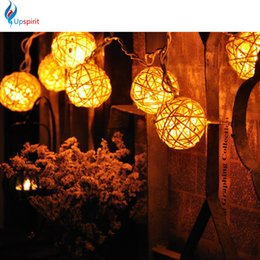 Wholesale Christmas Ornaments For Garden - Best Fancy Creamy White 110V Christmas Lights Copper Ball String Light For Outdoor Garden Party Wedding Christmas Decorations