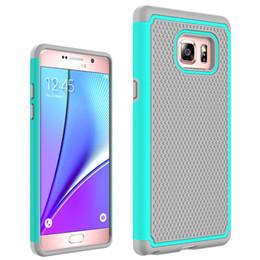 """Nouveaux écrans de téléphone en Ligne-Nouveau cas de téléphone portable 2016 pour Samsung Galaxy Note7 Mobile Back Cover 5,7 """"écran de lumière Slim Armure Shell antichoc Anti-dérapant PC + silicone"""