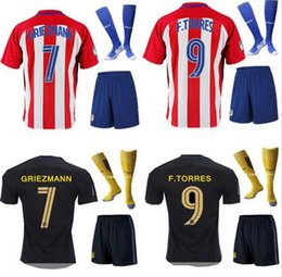 Wholesale New Atletico Madrid Jersey GRIEZMANN home away TORRES ARDA thai quality man s adults kits with socks football shirt soccer jersey